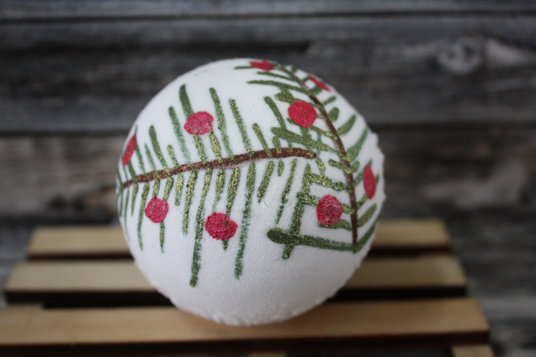 Woodland Berries Painted Bath Bomb