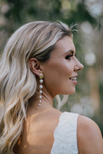 Load image into Gallery viewer, La Pearla Drop Earrings - Oscar & Ivy Bridal