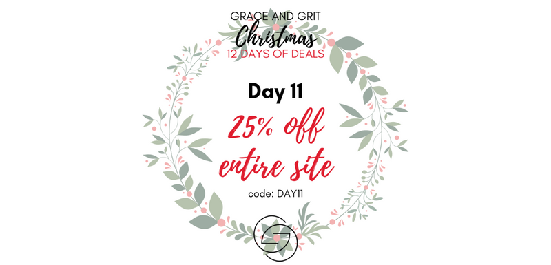 Grace and Grit Christmas 12 Days of Deals Day 11 Banner