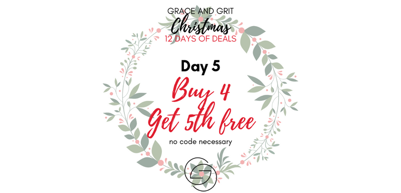 Grace and Grit Christmas 12 Days of Deals Day 5 banner