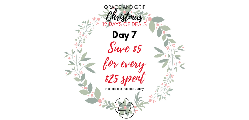 Grace and Grit Christmas 12 Days of Deals Day 7 banner