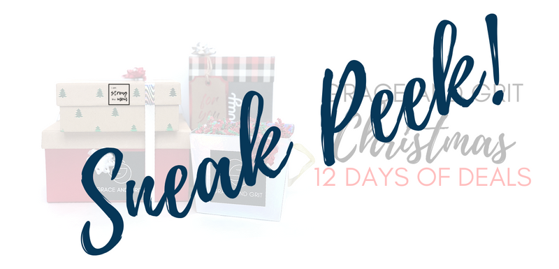 Sneak Peek: Grace and Grit Christmas 12 Days of Deals