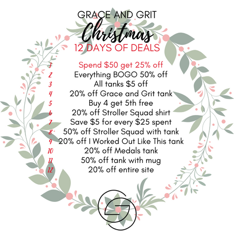 Grace and Grit Christmas 12 Days of Deals Summary Day 1