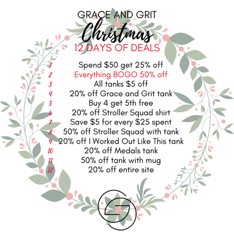 Grace and Grit Christmas 12 Days of Deals Summary Day 2