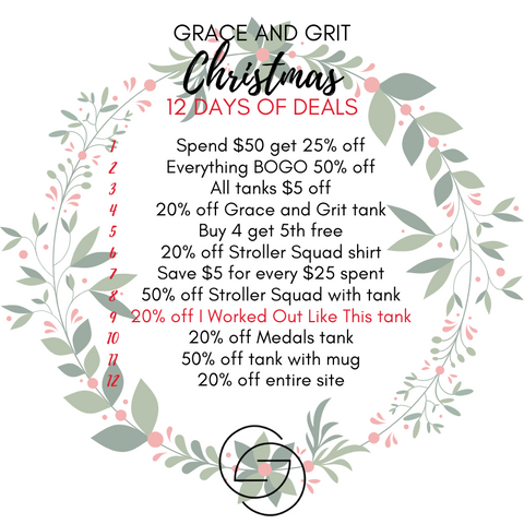 Grace and Grit Christmas 12 Days of Deals Summary Day 9
