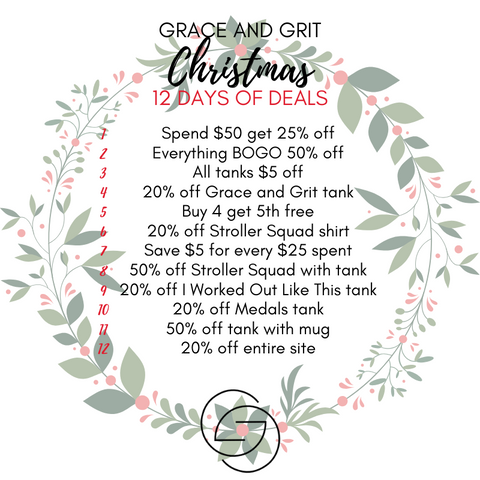 Grace and Grit Christmas 12 Days of Deals Summary