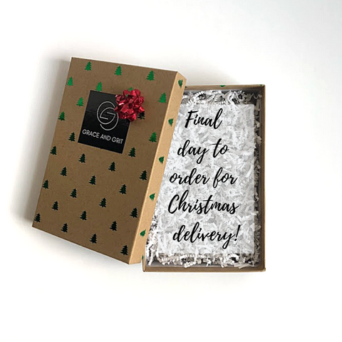 Grace and Grit Final Day to Order for Christmas Announcement