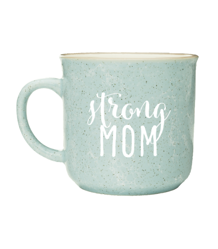 Grace and Grit Strong Mom Coffee Cup Mug Product