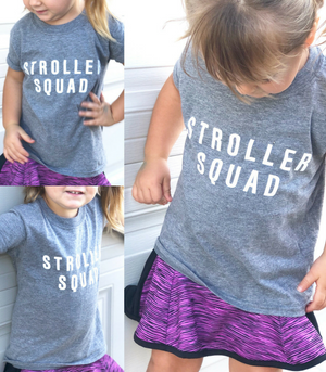 Grace and Grit Stroller Squad Kid's Shirt Model