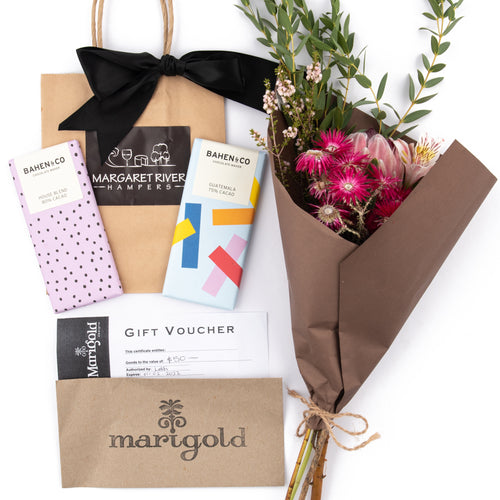 Chocolate Gift and Floral Gift Hamper Margaret River