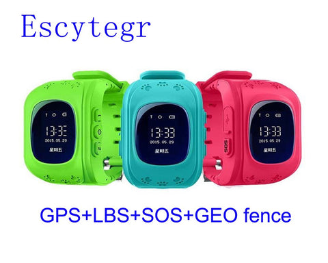 003 Q50 Smart Kid GPS Watch Telefon armbåndsur Google Map Location Finder SOS Tracker Anti Lost Monitor BabySmartwatch