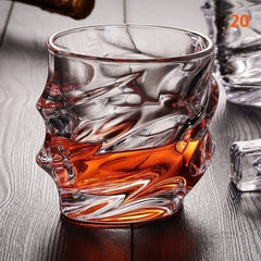 1 stk OldWhirlwind Whisky-brille tumblere til Scotch Bourbon Crystal Glass Blyfrit Ultra-Clarity Glass ePacket