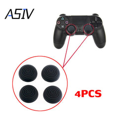 4 stk Silikone Analog Controller Thumb Stick Grips Cap Buttons Cover til Sony Play Station4 PS4 Black Spiral Thumb Sticks