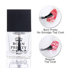 FØDT PRETTY 10 ml Topcoat Olie Lys olie Trykt Isoleringsolie Neglelak Coat Nail Art Care Olie DIY Base Foundation