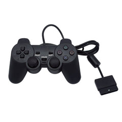 Black Wired Controller 1.8M Double Shock Remote joystick Gamepad Joypad til PlayStation 2 PS2 K5