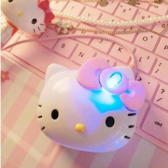 3D Cartoon Hello Kitty Wired Mouse USB 2.0 Pro Pink Cute Gaming Mouse Optiske mus til computer PC Kids Girl Mus