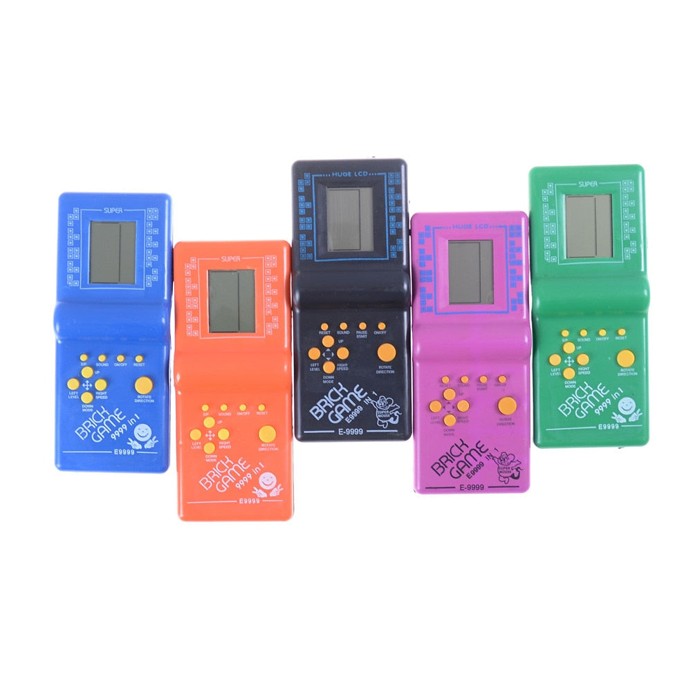Sale Classic Handheld Game Machine Tetris Brick Game Kids Game Machine with  Game Music Playback without Battery
