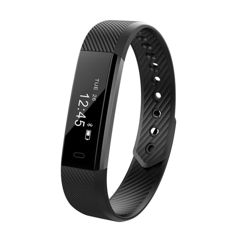 ID115 Smart armbånd Fitness Tracker Trin tæller Aktivitet Monitor Band Alarmur Vibration Armbånd til Iphone Android-telefon