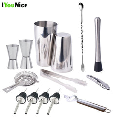 IYouNice 13 Stk 600 450 ml Cocktail Shaker Bar rustfrit stål sæt Vin Martini Drink Mixer Bar / Party Tool Bartender