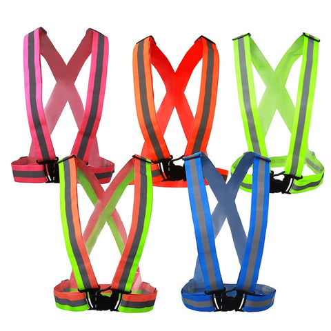 Safe Reflective Safety Vest Belt For Women Girls Night Running Jogging Cykling til byggeri Trafik sikkert