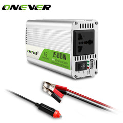 Onever Car Inverter 1500W DC 12V til AC 220V Power Converter med LED indikator lys cigaret lighter udgang summer alarm