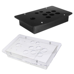 Udskiftning Arcade Game Kit 5mm DIY Klart Sort Arcade Joystick Akryl Panel Case Håndtag Robust konstruktion Let at installere
