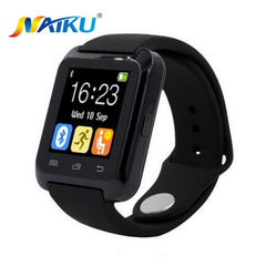 Smartwatch Bluetooth Smart Watch U80 til iPhone IOS Android Smarttelefon Slid ur bærbar enhed Smartwach PK U8 GT08 DZ09