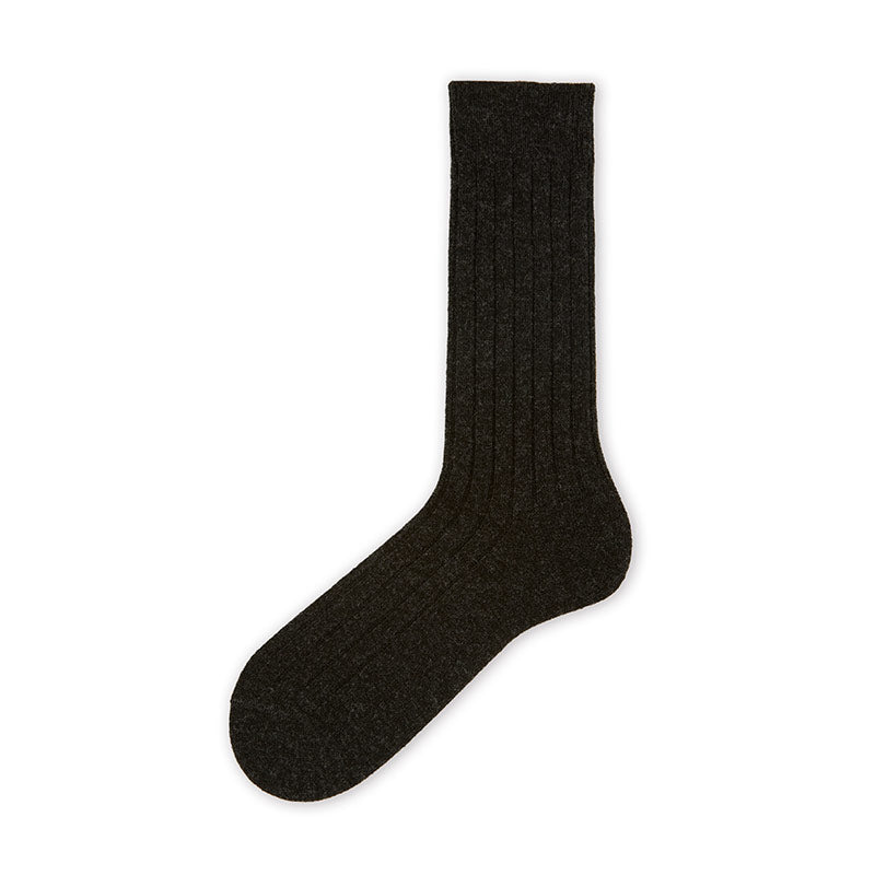 042140434 Premium Lambswool Ribbed Socks M