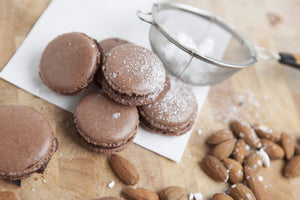 Mon Dessert: Vegan Style- Dark Chocolate & Almond Macaron recipe
