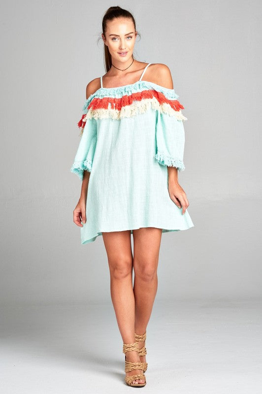 Mint Plus Size Warmer Temperatures Dress