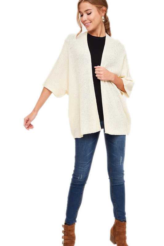 Essentials Dolman Knit Cardigan