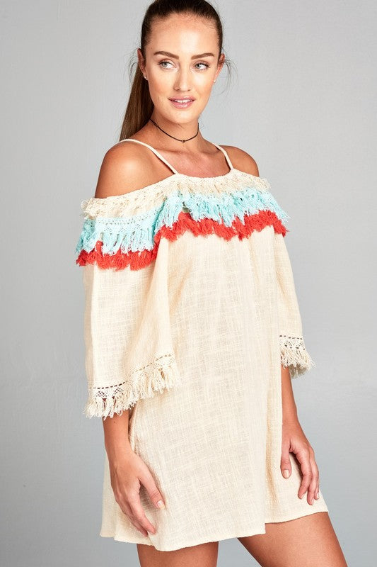 Sand Plus Size Warmer Temperatures Dress