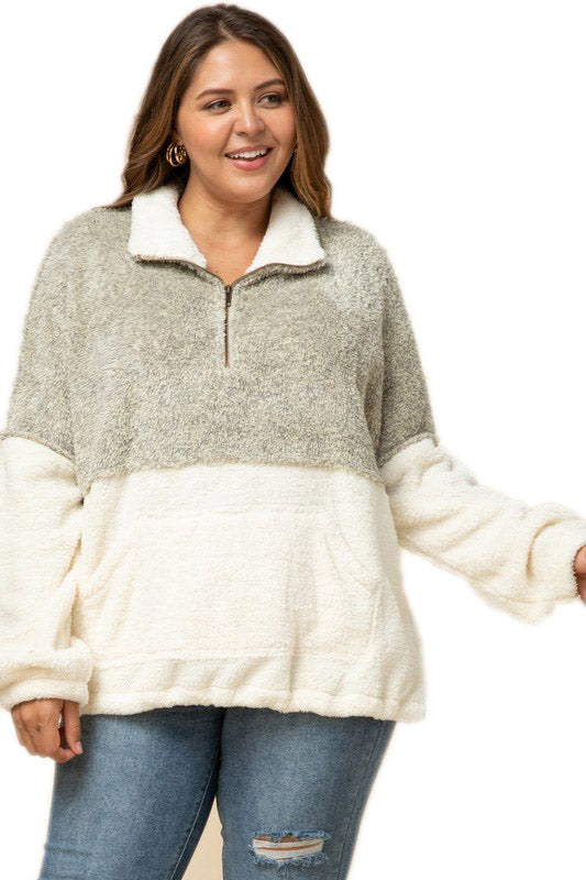 Plus Size Cozy Camel Pullover