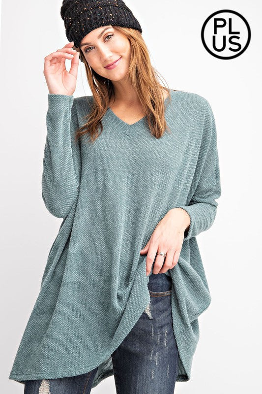 Antique Olive Sage Green Plus Size Sweater