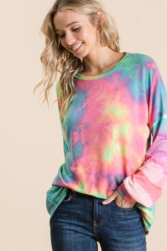 Volume Up Tie Dyed Shirt