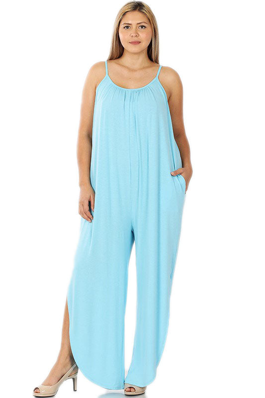 Plus Sky Blue Jumpsuit