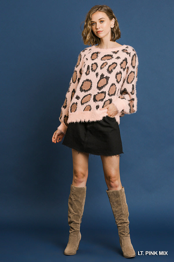 Blush Animal Print Sweater