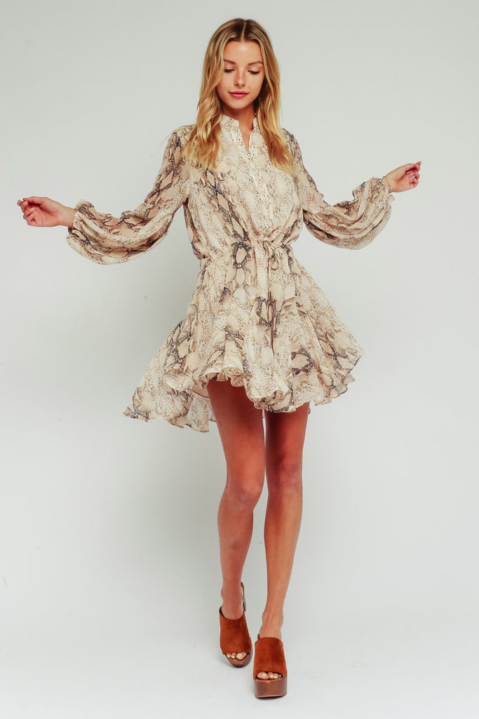 Frilly Snakeskin Dress