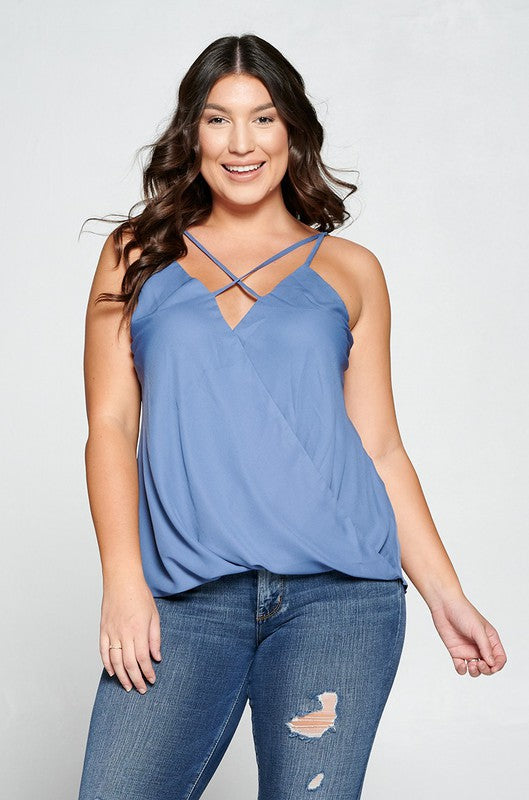 Plus Size Caged Top