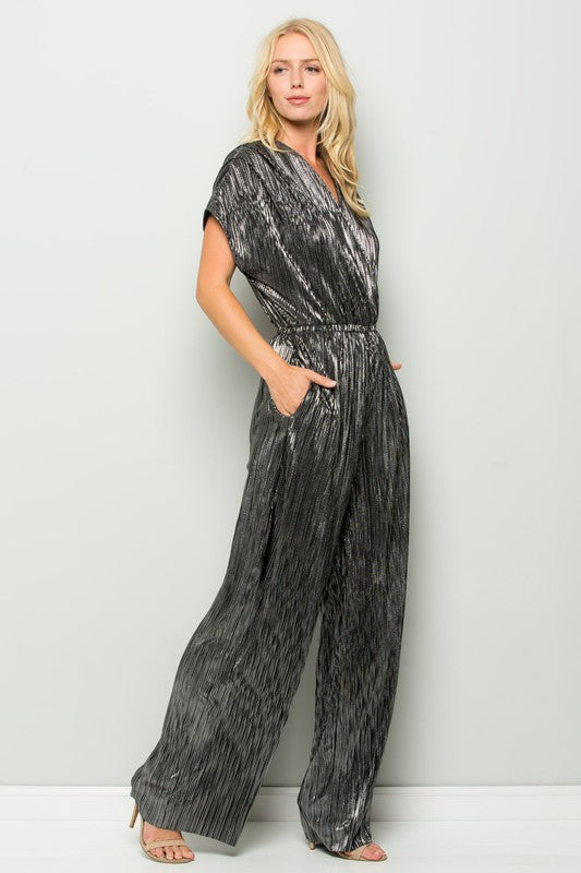 In The City Metallic Jumpsuit