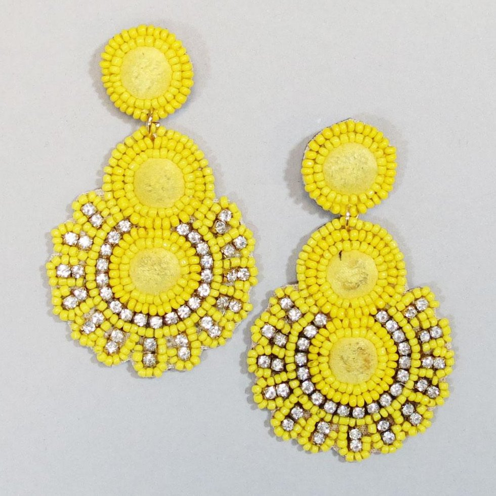 Yellow Boho Earrings
