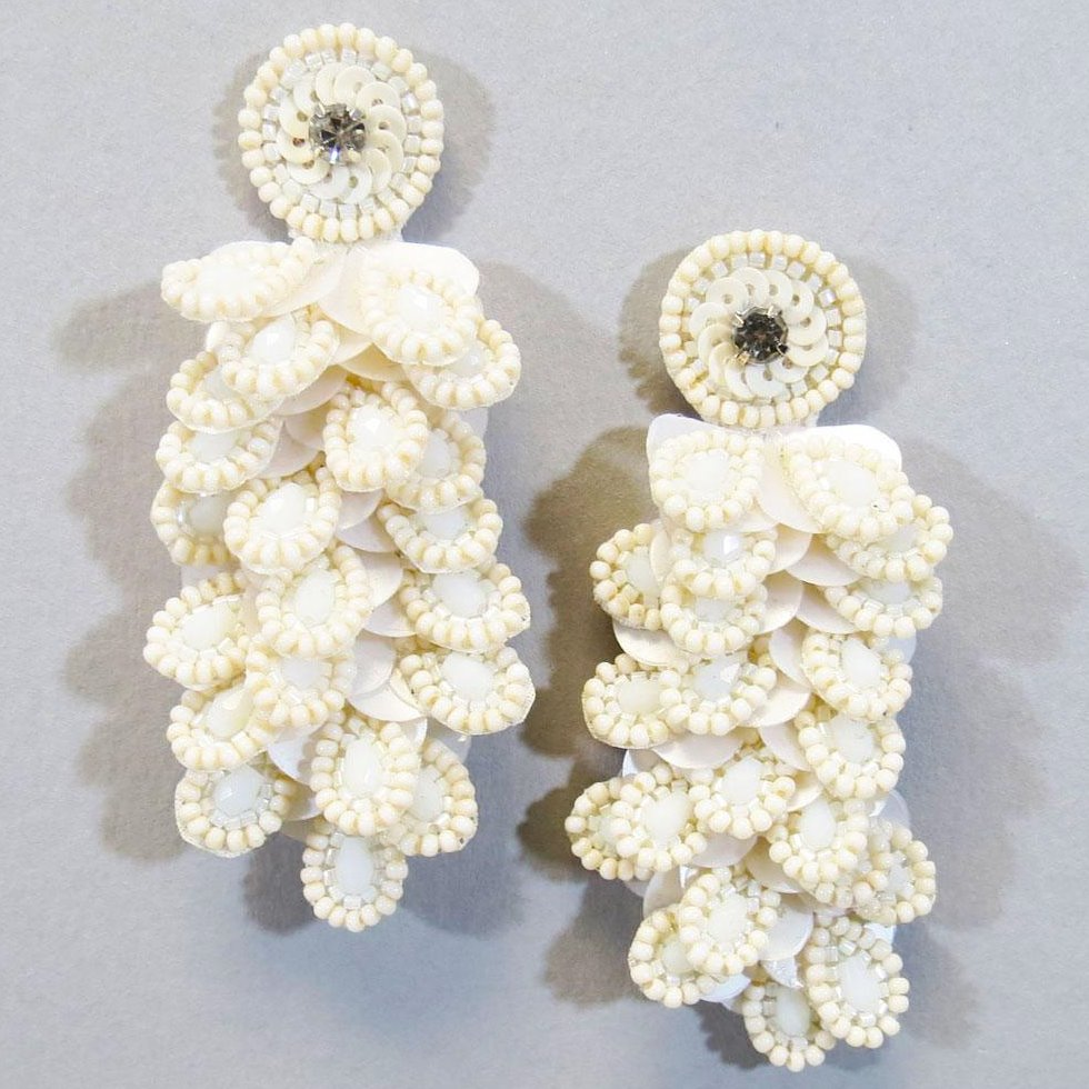 Snow Bowl Earrings