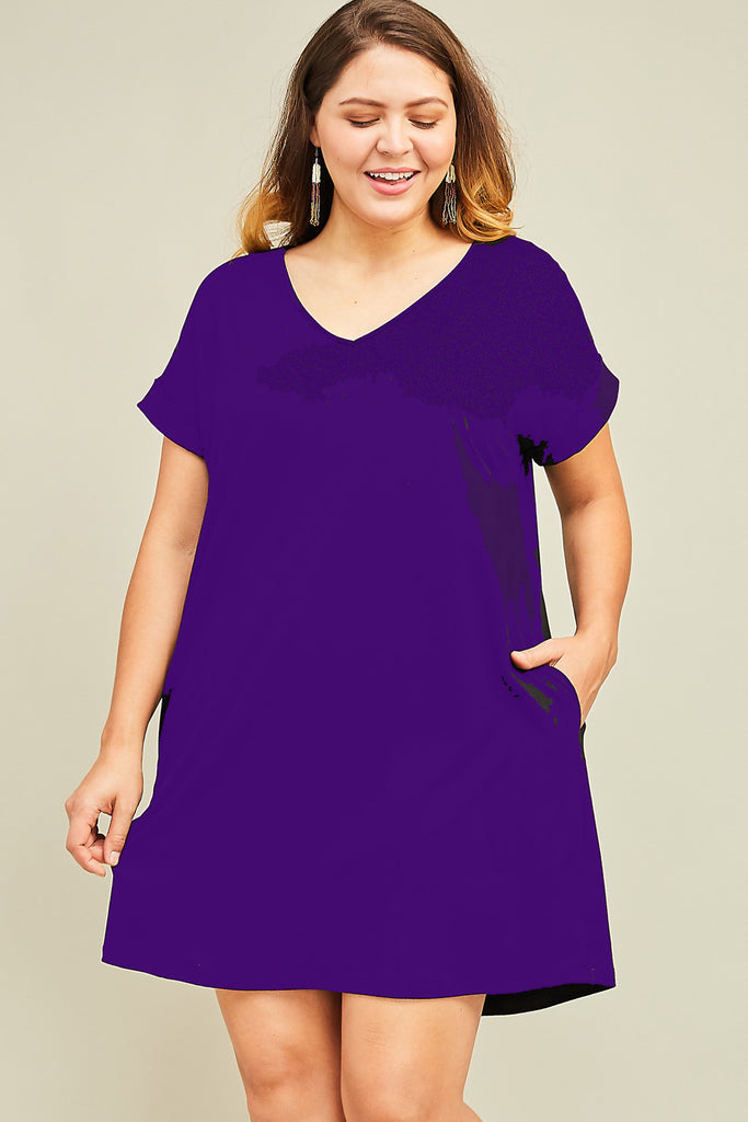 Everyday Deep Purple Dress