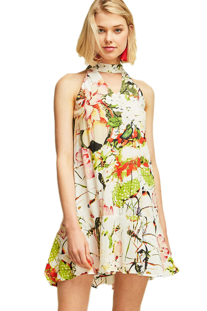 Let's Go Go! Floral Dress