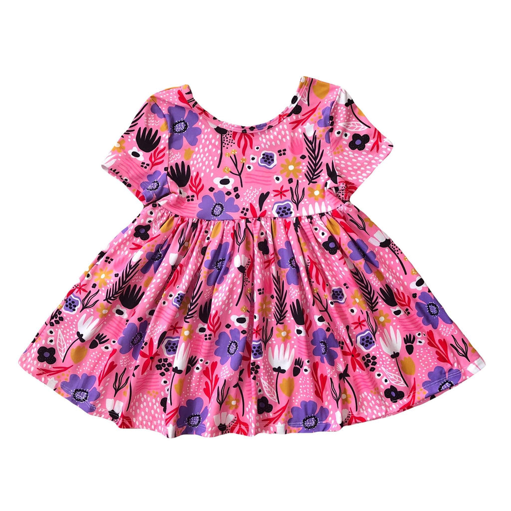 Lilac Blooms Girls Dress