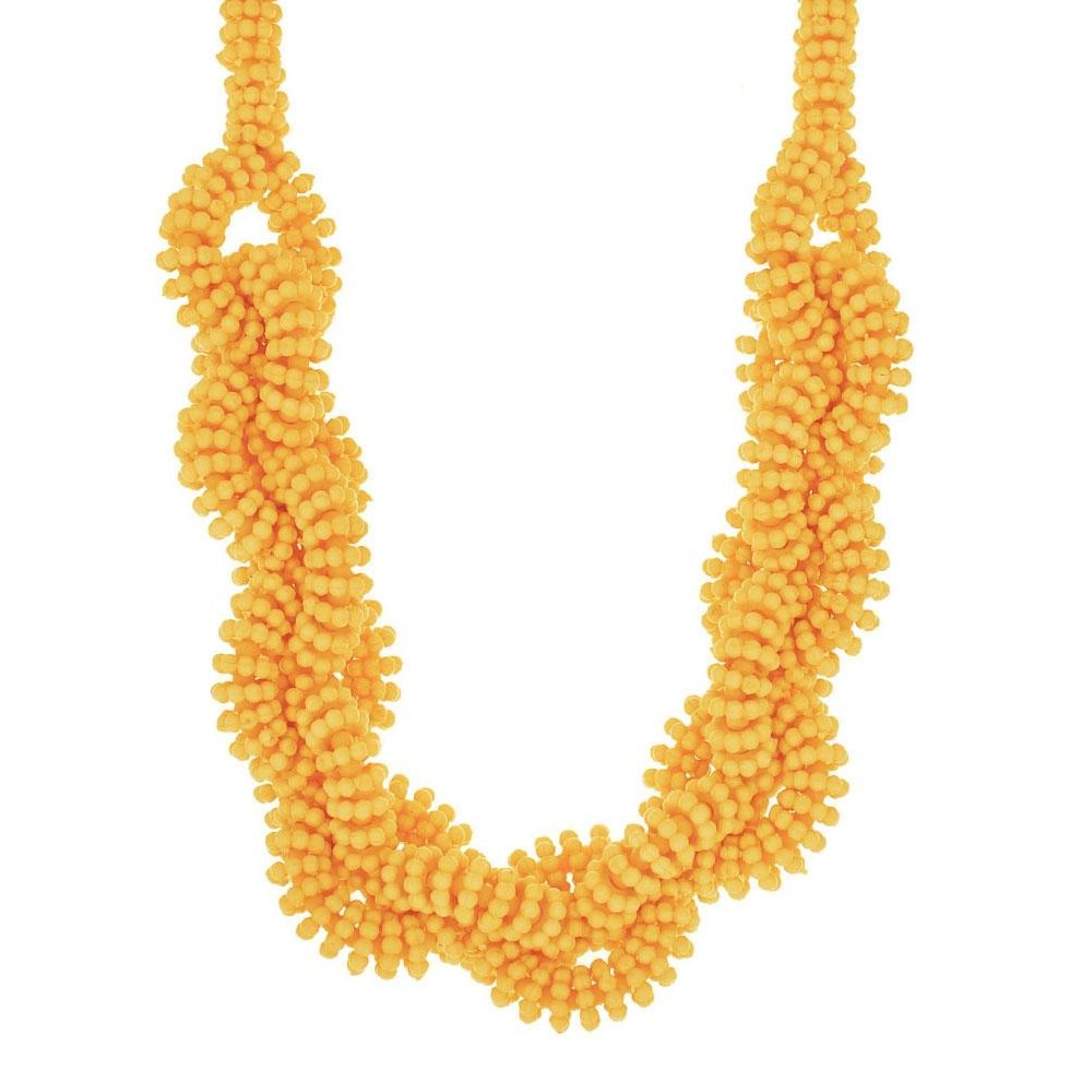 Marigold Beaded Statement Necklace
