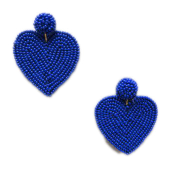 Blue Heart Earrings