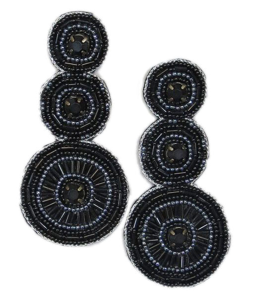 Black Statement Earrings in The Tailgater