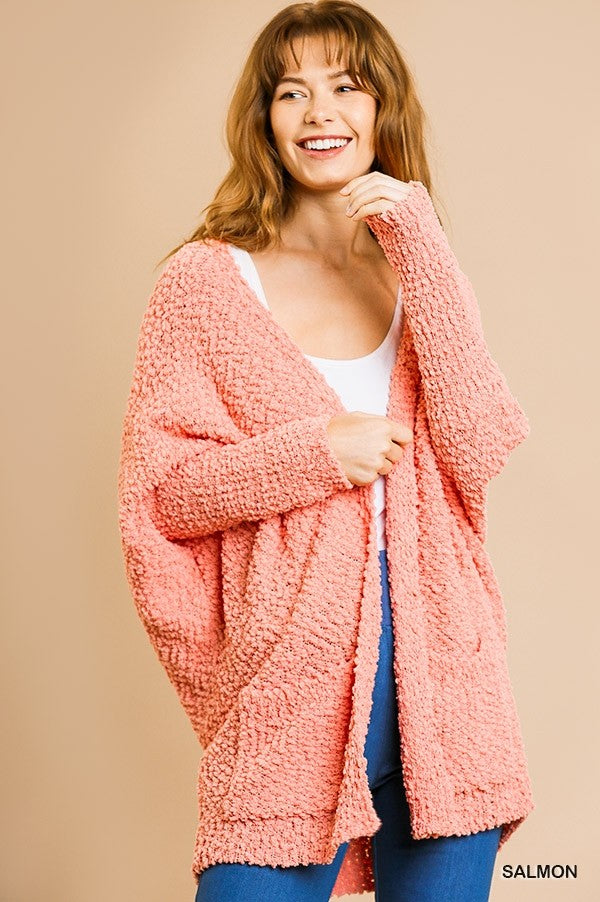 Baby It's Cold Outside Coral Cardigan