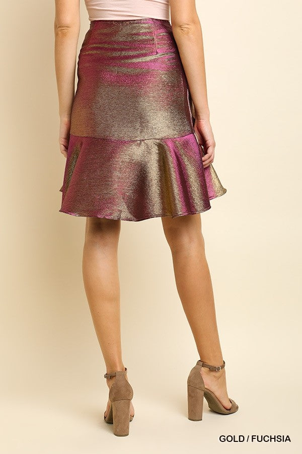 Ready to Rock Iridescent Skirt